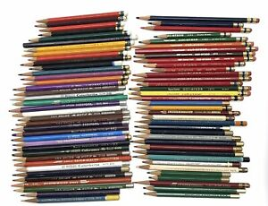 73 Vintage Colored Pencils ~ Verithin, Mongol, Venus, Col-erase, Prismacolor +