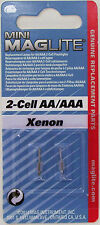 New Maglite Xenon 2 - cell AA / AAA Mini Maglite Bulb Replacement Lamp Genuine