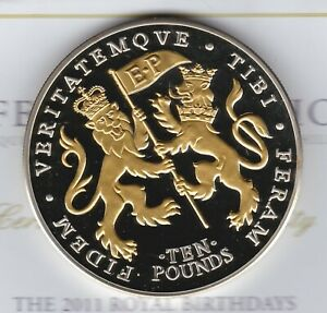 BOXED 2011 JERSEY LIFETIME OF SERVICE SILVER PROOF FIVE OUNCE £10 COIN + CERT.