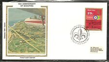 Guernsey SC # 249 Scouting Year- Air Scouts Reading Chart- FDC.Colorano Cachet.