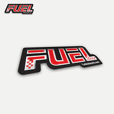 Fuel Adheshive Foil Sticker for use on Exhausts / Label / Decal Vinyl - 80x27mm