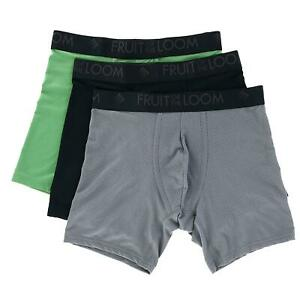 New Fruit of the Loom Men's Breathable Micro Mesh Boxer Briefs (3 Pair Pack)