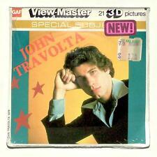 SEALED 1979 vintage GAF view master JOHN TRAVOLTA reel set Grease superstar !!