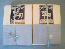 NOS NWT! SHEET & PILLOWCASE SET! Vintage SPRING KNIGHT brand: PASTEL BLUE exc!