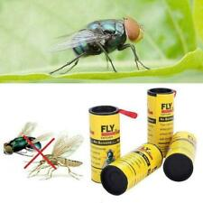 24Pcs Insect Glue Tape Strips Sticky Fly Paper Eliminate Flies Trap Catcher W5J4