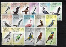 TURKS & CAICOS SG381/464, 1973 BIRDS BASIC SET MNH