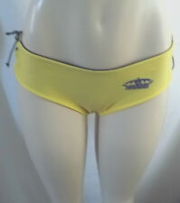CORONA EXTRA BIKINI PANTY ONLY GOLD LACE UP SIDES REVERSIBLE SWIMSUIT NWT P /S