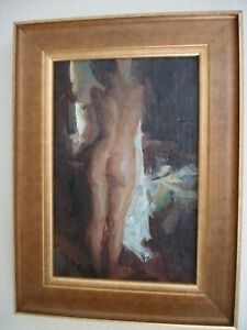 """QUANG HO """"North Light"""" Original Painting Oil on Canvas Board Signed 1998"""