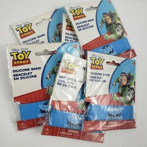 6 Disney Pixar Toy Story silicone band Bracelets blue Space Ranger