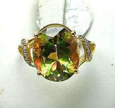 Topaz Cocktail Yellow Gold 14k Fine Rings