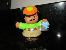 Fisher Price Little People Zoo Talkers Man Figure zookeeper bucket fish keeper