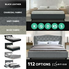 Artiss Bed Frame Queen Double King Single Full Size Base Mattress Fabric Leather