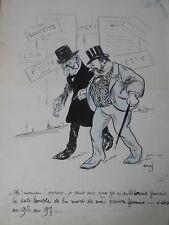 André VIRIEZ-Dessin original-ART NOUVEAU-1900-gentilhomme-LE BON VIVANT