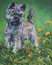 CAIRN TERRIER dog art canvas PRINT of LAShepard painting LSHEP  8x10