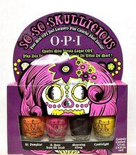 OPI Nail Lacquer - SO SO SKULLICIOUS Mini Collection ( 4 colors x 1/8oz)