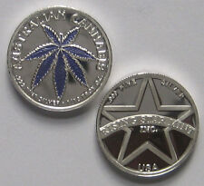 1/10th Troy Oz Pure .999 solid Silver Australian Purple Leaf Cannabis Coin