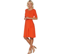 H By Halston Petite Jet Set Jersey Dress With Faux Sarong Tie Size S Cayenne
