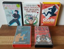 Vintage Collectable Martial Arts VHS Tapes x 5 Bruce Lee Jackie Chan Kung-Fu PAL