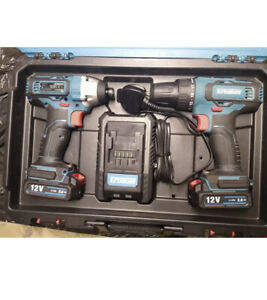 Erbauer EDD12-Li-2 12V 2.0Ah Li-Ion - Cordless Twin Pack drill set