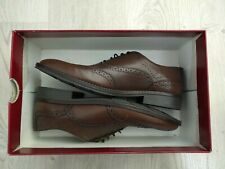 New $140 Hush Puppies Mens Bronson Oxford WingTip Tan Leather 9.5
