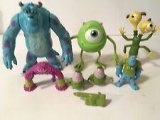Disney Monster Inc. Figure Lot Mike Purple Sully Purple Terry Terri Perry