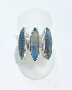 Rings - Sterling Silver - Blue Moonstone -  Australian Seller