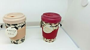 Radley  bamboo travel cups choice of 2 styles  - Heritage or Wrapped Up