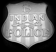 """obsolate historical police badge ...US Indian Police  """"Metal Breasts"""""""
