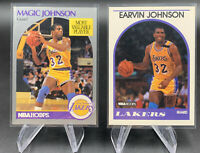 1990 Fleer 90 All-Stars Sticker Earvin Magic Johnson #4, Lakers + 3x Cards LOOK