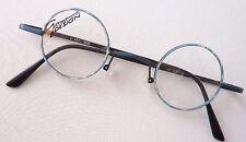 runde Brillenfassung blau rund Nickelbrille kleine Gläser Damen Herren Größe S