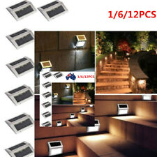 3 LEDS Waterproof Solar Powered Wall Stair Light Garden Pathway Outdoor Use