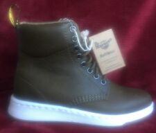 NWOB Dr. Martens Grenade Green Carpathian Mesh Rigal Boots Size 4