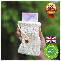 Soap Saver Mesh Bag, Natural Sisal Exfoliating Foaming Pouch, Eco Zero Waste B90