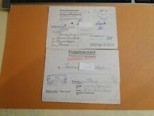 cartes prisonniers guerre  kriegsgefangenenpost POSTKARTE et  ANTWORT-POSTKARTE