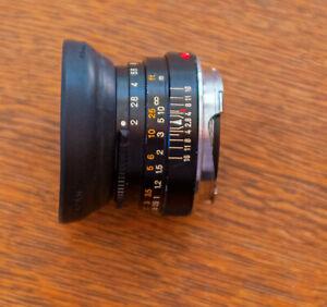 M-Rokkor 40mm f2 lens for Minolta CLE, Leica M mount cameras