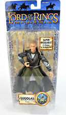 "Lord Of The Rings Trilogy Super Poseable LEGOLAS 6"" Action Figure ROTK Toy Biz"