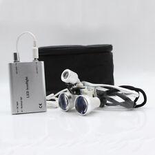 3.5x Dental Surgical Binocular Loupes 420mm LED Dentist LED Head Light lamp sale