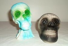 OLD Monster toy squeeze toy set Skull Vintage skulls Cool ! Horror
