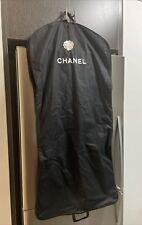 "Authentic CHANEL Garment Bag Travel Clothing Dress Jacket Bag 50"" Long w/ Flower"