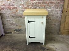 Single Rustic Wooden Solid Pine Freestanding Kitchen Handmade Cupboard Unit