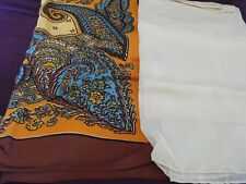 1950's Vintage Fresca Water Repellent Scarf + Paisley Scarf