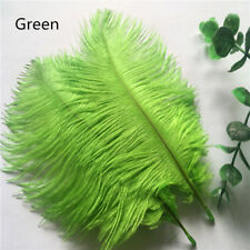 10pcs Green ostrich feathers 6-8 inches / 15-20 cm DIY clothing accessories