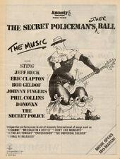 SECRET POLICEMAN'S BALL 1982 Sting Clapton Poster size Press ADVERT 16x12 inch