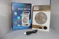 PORTABLE RECHARGEABLE SOLAR AC CHARGED ALL-IN-ONE CAMPING TENT FAN LIGHT LANTERN