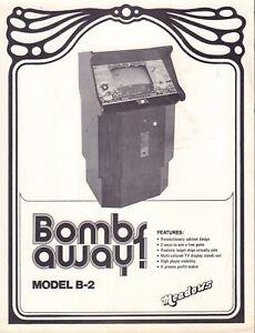 Bombs Away Model B-2 Coin-Op Circa 1970's Arcade Advertisement  092717DBE