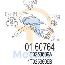 MTS 01.60764 Exhaust VOLKSWAGEN Touran 1.6i 102bhp 07/03 -