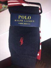 🎁New Ralph Lauren Boys Socks Size 9-11 Years