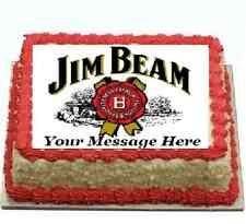 Jim Beam Bourbon Cake topper edible image icing Real Fondant Sheet birthday