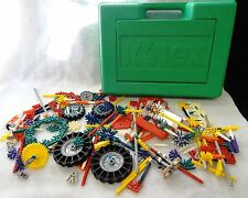 LARGE Lot of 250+  K'NEX Mixed Building Pieces in Case BIG VARIETY Almost 3 lbs