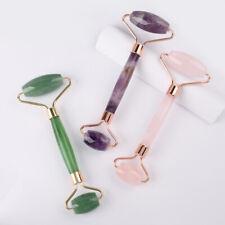 Natural Stone Healing Crystal Jade Roller Facial Tool Face Neck Eye Body Massage